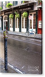 Across The Street In The French Quarter Acrylic Print by John Rizzuto