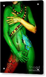 acrylic on FLESH Acrylic Print by Tbone Oliver