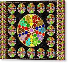 Acrylic Painted Round Colorful Jewel Patterns By Navinjoshi At Fineartamerica.com  Acrylic Print