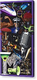 Acrylic Painting Letter M Acrylic Print by Scott Duffy
