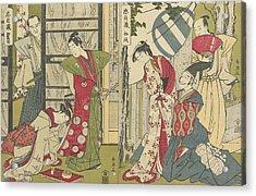 Act I And Act II Acrylic Print by Katsukawa Shunei