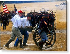 Action At The Front Acrylic Print by David Lee Thompson
