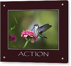 Action Inspirational Motivational Poster Art Acrylic Print by Christina Rollo