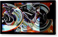 Acrylic Print featuring the digital art Action Works - D E M by rd Erickson