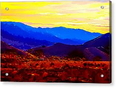 Acton California Sunset Acrylic Print