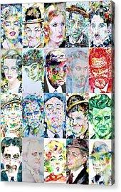 Actors And Directors Acrylic Print