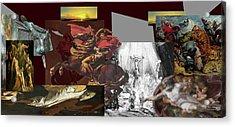 Acrylic Print featuring the digital art Acts Of War by David Bridburg