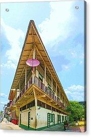 Acute Corner House Acrylic Print