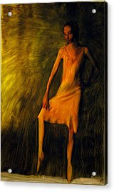 Acrylic Print featuring the painting Adajio by FeatherStone Studio Julie A Miller