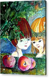 Adam And Eve Before The Fall Acrylic Print by Mindy Newman