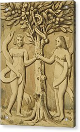 Adam And Eve Acrylic Print by Joseph Manning