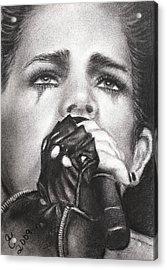 Adam Lambert Acrylic Print by Grace Rose