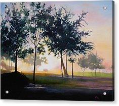 Adam-ondi-ahman Sunrise Acrylic Print by Lester Nielsen