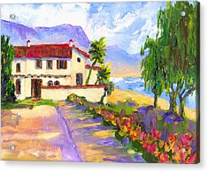 Adamson Home Malibu Acrylic Print by Randy Sprout