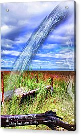 Adding Fresh Water Shortly Acrylic Print by Cathy  Beharriell