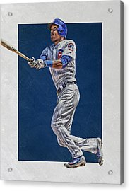 Addison Russell Chicago Cubs Art Acrylic Print by Joe Hamilton