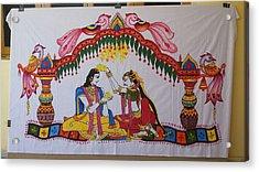 Addutara-marrege-curtain Acrylic Print