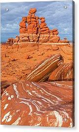 Rock Art - Adeii Eechii Cliffs Acrylic Print