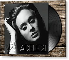Adele 21 Art With Autograph Acrylic Print by Kjc
