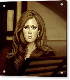 Adele Gold Acrylic Print by Paul Meijering