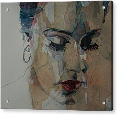Adele - Make You Feel My Love  Acrylic Print by Paul Lovering