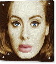 Adele Painting Circle Pattern 2 Acrylic Print
