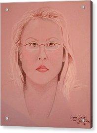 Adele Acrylic Print by Rebecca Tacosa Gray