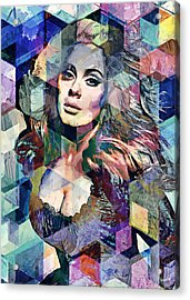 Adele  Acrylic Print by Sampad Art