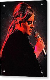 Adele Acrylic Print by Semih Yurdabak