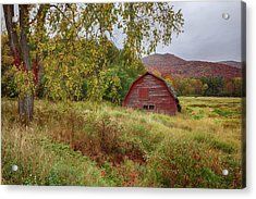 Adirondack Barn In Autumn Acrylic Print