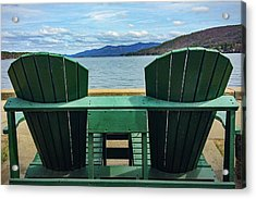 Acrylic Print featuring the photograph Adirondack Chair For Two by Kendall McKernon