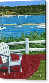 Adirondack Chair On Cape Cod Acrylic Print