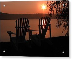Adirondack Chairs-1 Acrylic Print by Michael Mooney