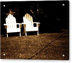 Adirondack Chairs Acrylic Print