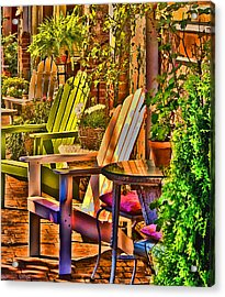 Adirondack Chairs Acrylic Print by Dale Stillman