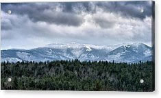 Acrylic Print featuring the photograph Adirondack High Peaks During Winter - New York by Brendan Reals