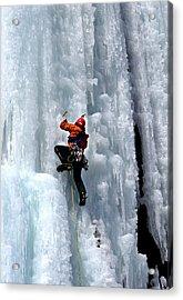 Adirondack Ice Climber  Acrylic Print by Brendan Reals