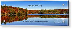 Acrylic Print featuring the photograph Adirondack October Generosity by Diane E Berry
