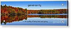 Adirondack October Generosity Acrylic Print by Diane E Berry