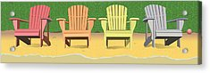 Adirondacks On The Beach Acrylic Print by Marian Federspiel