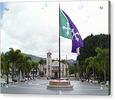 Adjuntas, Puerto Rico Flag Acrylic Print
