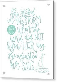 Adjusted Her Sails Acrylic Print