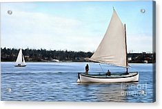 Acrylic Print featuring the photograph Admirable Sailing On Lake Union by Susan Parish