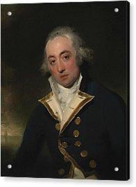 Admiral John Markham Acrylic Print by Thomas Lawrence
