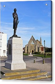 Admiral Lord Nelson And Royal Garrison Church Acrylic Print by Terri Waters