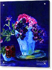 Acrylic Print featuring the painting Admire by Helena Bebirian