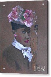 Admirer, 1947 Easter Bonnet -- The Original -- Retro Portrait Of African-american Woman Acrylic Print