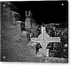 Adobe And The Cross Acrylic Print by Dennis Sullivan
