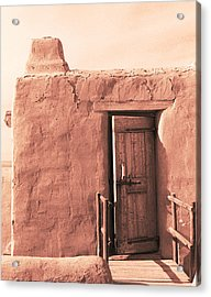 Adobe Doorway Acrylic Print by Eric Foltz