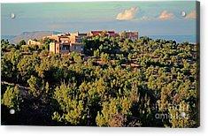 Acrylic Print featuring the photograph Adobe Homestead Santa Fe by Diana Mary Sharpton